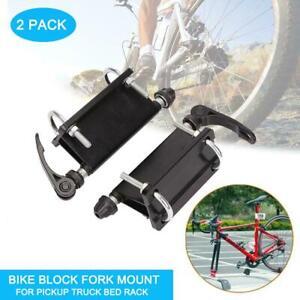 2Pcs/set Bike Car Rack Mount Alloy Fork Rack Bicycle Block Quick-release Carrier