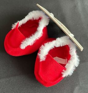 Build-A-Bear Boy's Red Slippers **NEW WITH TAG**