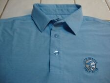Straight Down Golf Polo Shirt Blue Heather Lake Merced SF GC Spandex Mens Small
