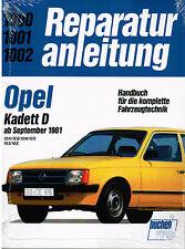 Buch Reparaturanleitung Opel Kadett D 12N 12S 13N 13S 16S/ ab Sept 1981 Bd 1000