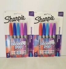 Sharpie -Electro Pop Markers - Fine Point- New lot of 2