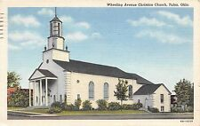 Oklahoma OK postcard Tulsa, Wheeling Avenue Christian Church ca 1949