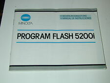 NOTICE MINOLTA PROGRAM FLASH 5200i ALLEMAND ESPAGNOL