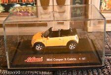 MINI COOPER S CABRIO SCHUCO 1/87 HO GREAT BRITAIN JAUNE