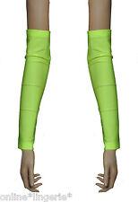 Arm Warmers Yellow UV Flo Neon Lycra Gloves Gauntlets Fingerless Club Dancer G6