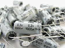 1000UF 6.3V - 3 Pieces - Electrolytic - Illinois Capacitor 108RSM6R3M - *NOS!*