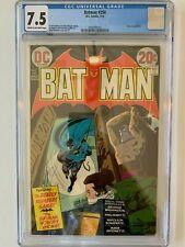 DC Comics  BATMAN 250 7.5 CGC 1973 Bronze age