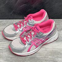 Asics Womens Sz 5.5 Gel Contend 3 Running Walking Shoes T5F9N Pink Silver White