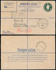 Poland Ww2 1945 Registered Stationery Fpo 140 Misplaced Cancel