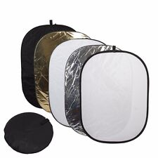 """35x48""""in Photography Photo Multi Portable Reflector 5-in-1 Circular Collapsible"""