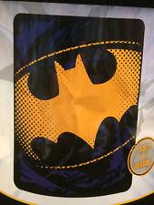 Batman Raw Shield Logo Emblem Dark Knight Fleece Touch Throw Blanket NEW