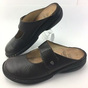 FINN COMFORT Stanford LEATHER CLOGS MULES Brown WOMENS Size 8 - 8.5 US/ 39 EU