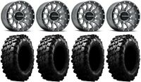 "Raceline Trophy 14"" Grey Wheels 30"" Carnivore Tires Sportsman RZR Ranger"