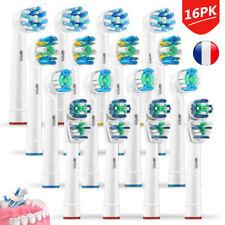 16PCS Têtes De Brosse Oral B Dual Clean à Dent remplacement  électrique FR