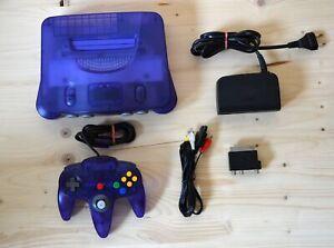 N64 - Nintendo 64 Konsole Ocean Blue mit Original Controller