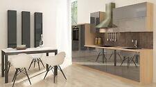 Respekta Premium cucina angolo componibile 310 cm Acacia Grigio lucido