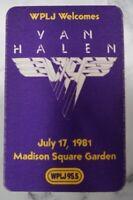Van Halen Backstage Pass 1981 WPLJ Promo NYC