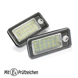 LED Kennzeichenbeleuchtung für AUDI A4 S4 8E B6 B7 Limousine & Avant 2001-2008