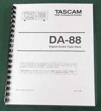 "Tascam DA-88 Maintenance Manual: w/ 11""X17"" Schematics & Protective Covers!"
