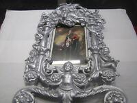 Vintage Cast Iron Cherrub Photograph Frame