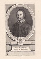 Portrait XVIIIe Jérôme Vignier Hieronymus Vignerius Prêtre L'Oratoire De Jésus