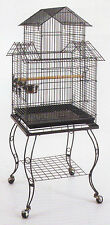 Large Pagoda Roof Top Lovebird Cockatiels Parakeets Bird Cage W/Stand 913