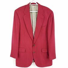 Jos A Bank 100% Silk Solid Red 2-Button Blazer Sport Coat Jacket, Mens 42R