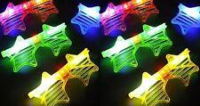 12/pk LED Light Up Sunglasses Shutter Star shape Flashing Glasses assorted color