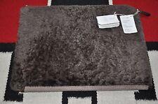Brunello Cucinelli Wool & Leather Lined Shearling Fur Portfolio Holder Case