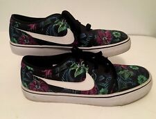 NIKE Toki Low Txt Tropical Floral Print Sneakers Board Shoes 631697-011 Mens 9