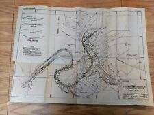 1949 Sketch Map Allegheny River Tributaries PA Reynoldsville Flood Protection