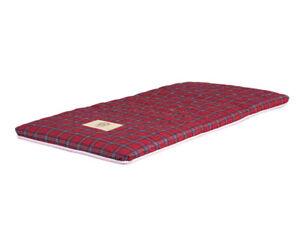 Thai Fold Mattress, Spare Bed, Red Tartan Pattern, 185cm x 92cm. Futon. Roll mat