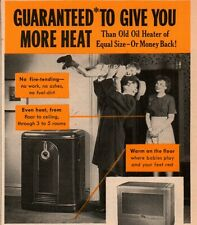 1948 Coleman oil Heater Warm Floors Happy Family print Ad
