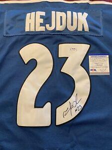 Milan Hejduk Signed Colorado Avalanche Jersey PSA/DNA Size 52