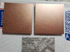 10 pcs  Double Sided Copper Clad Laminate PCB  FR-4, .060, 3 x 3, 1 oz.