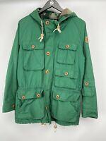 Lyle& Scott men's parka deep green hooded warm lining size S