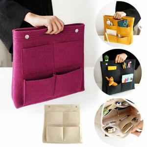 Womens Felt Insert Bag Organizer Handbag Travel Tote Liner Purse Large Pouch