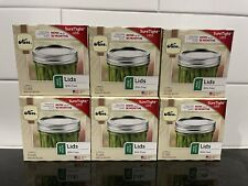 Kerr Wide Mouth Mason 72 Lids Home Canning Ball Jar 6 Sealed Boxes Sure Tight