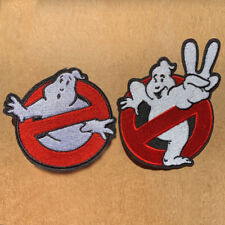 1pc Ghostbusters 1 or 2 Embroidered Patch Cloth Iron Applique craft ghost #1376