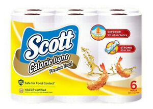 Scott Calorie Light Premium Kitchen Tissue Towel Paper Roll 60 sheets x 6 rolls
