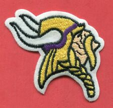 "Minnesota Vikings - Vikings Head 2 1/4"" x 3 1/8"" Embroidered Patch"