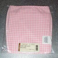 Longaberger Pink Check CARRY-ALONG Basket Liner ~ Brand New in Original Bag!