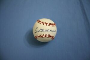 Ted Williams autographed baseball on Bobby Brown American League ball Mint !