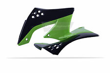 KAWASAKI Radiator Scoops shrouds KXF 450 2009 - 2011 Green / Black OEM Motocross