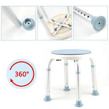 Duschhocker Duschstuhl Duschsitz Badhocker Höhenverstellbar 360° Drehbar 136KG