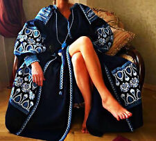 Ukrainian Embroidery Embroidered dress Vishivanka Vita Kin Style S M L XL 2XL