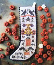 HALLOWEEN STOCKING SAMPLER-CROSS STITCH CHART-KATHY BARRICK