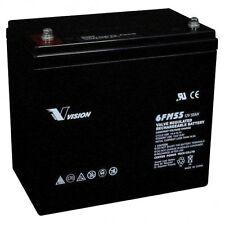 Vision 6FM55 12V 55Ah 10Yrs Long Service Life AGM Sealed Lead Acid Battery