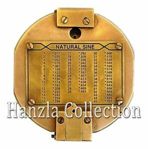 Antique Brunton Compass London Vintage Compass Solid Brass Kelvin Natural Sine