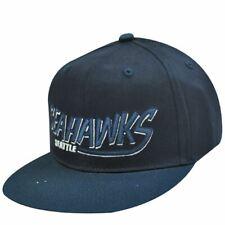 NFL SEATTLE SEAHAWKS FLAT OLD SCHOOL SNAPBACK CAP HAT
